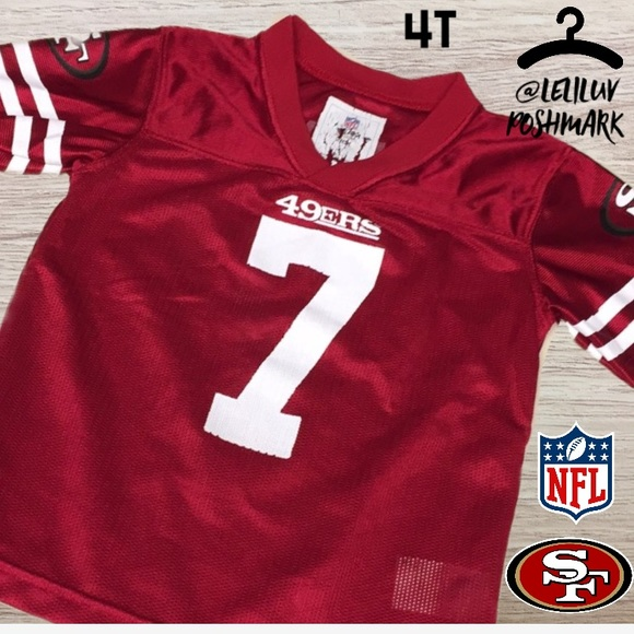 1ab14baf SF 49ers Kapernick boys 4T NFL team apparel jersey